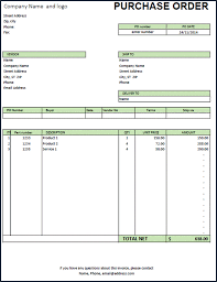 Purchase Order Format Xls Estimate Invoice Template Excel ...