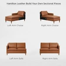 hamilton leather 2 piece chaise