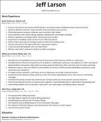 Bank Teller Resume Template Example By Jeff Larson Teller Resume