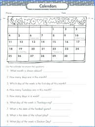 Calendar Worksheets With For Kids Months Of The Year Days Week ...