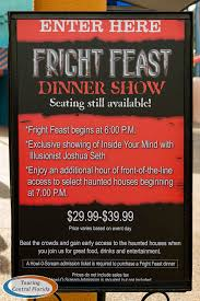 held in dragon fire grill fright feast offers an all you care to e meal featuring several pre plated entrees a number of sides and desserts