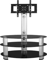 bentley black glass tv stand silver
