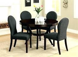 black round table. Black Round Dining Table Set Elegant Room Design With Deep