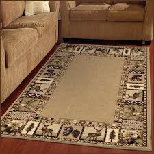 lodge style bath rugs area cabin log round themed