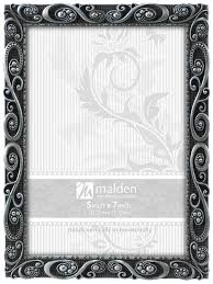 Amazon.com: Malden International Designs Morgan Pewter Metal Picture Frame,  5x7, Silver: Home & Kitchen