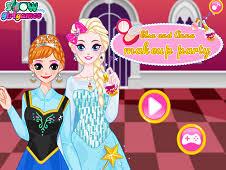 elsa and anna makeup party
