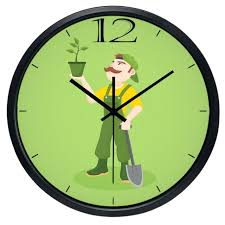 outdoor wall clock cartoon gardener indoor outdoor wall clock creative decorative clock outside wall clock with outdoor wall clock