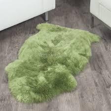 real sheepskin throw round wool rug animal print rugs