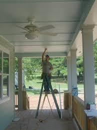 remodelaholic blue porch ceiling