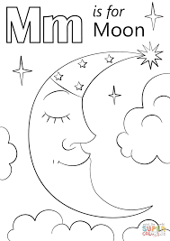 Small Picture Letter M Is For Moon Coloring Page Free Printable Coloring Pages