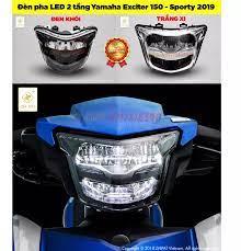 Đèn pha LED 2 tầng Yamaha Exciter 150 - Sporty 2019 VER 2 hàng hãng ZHIPAT
