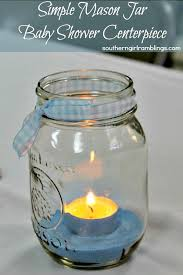 Decorating With Mason Jars For Baby Shower Mason Jar Baby Shower Centerpiece Crafts DIY Pinterest 2