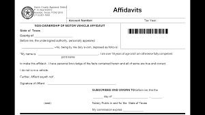 Of Vehicle Ownership Affidavit Motor Non 2019 X--x us