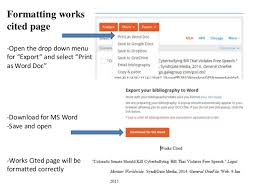 Using Easybib To Create A Works Cited Page