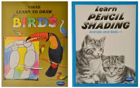 vikas learn to draw learn pencil shading s and birds 1 book at low s in india vikas learn to draw learn pencil shading s