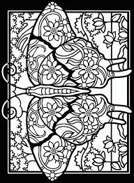 Printable Easter Stained Glass Coloring Pages Coloring Home