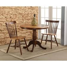 furniture international concepts dining essentials distressed pecan pedestal round table coffee black inch white with
