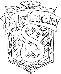 For Harry Potter Slytherin Coloring Pages