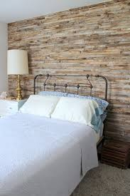 planked wood wall with narrow staggered wood planks for a bedroom