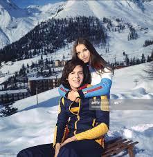 Italian singer Claudio Baglioni hugs his wife Paola Massari in winter...  News Photo - Getty Images