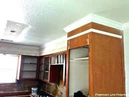 how much to install crown molding installing crown molding on kitchen cabinets how to install crown