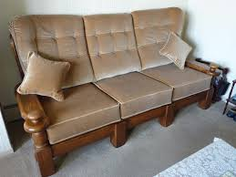 wood frame sofa with loose cushions astounding upholstery cannock