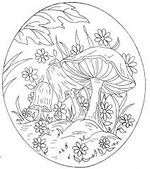 mushroom coloring pages nice for kids