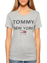 Tommy Hilfiger New York Fit Size Chart Tommy Hilfiger Tjw Essential Graphic Tee Mottled Grey