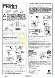 merlin automatic garage door opener instruction manual images door