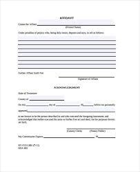 General Affidavit Example Delectable Affidavit Forms In PDF