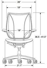 desk chair dimensions. Plain Chair HumanScale Freedom Chair Front Dimesnions With Desk Dimensions Q