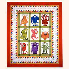 The Monster Quilt Pattern Set from Quakertown Quilts & Quckertown Quilts applique quilt patterns. Adamdwight.com