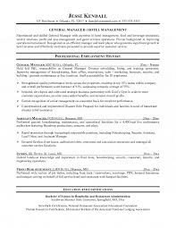 Best Ideas of Hotel General Manager Resume Samples With Format Layout