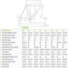 37 Rational Cannondale Six13 Geometry Chart