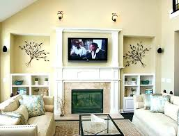 tv over fireplace over fireplace mount television wall mounted hide wires above hiding