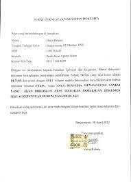 Surat pernyataan yang bertanda tangan dibawah ini : 2