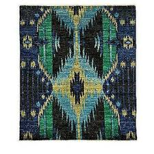 darya rugs ikat collection midnight oriental rug in blue and green