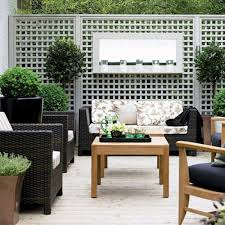 trellis and rattan furniture small gardens blog
