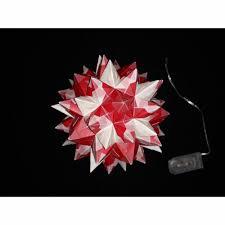 Bascettastern Rhombo Stern Beleuchtet Mit Led Lichterkette