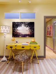 eclectic office furniture. Home Desk Ideas Office Eclectic With Work Area Study Yellow Furniture G