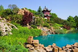 chinese garden in the botanical garden of montreal canada