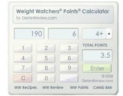 Weight Watchers Points Calculator Chart Ww Points Calc 1 Screenshots