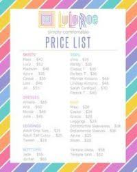 Lularoe Joy Price Chart Lularoe Joy Price Chart 17 Best Images About Lularoe