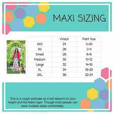 Maxi Skirt Sizing With Measurements Lularoe Maxi Sizing