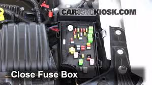 interior fuse box location chrysler sebring  interior fuse box location 2007 2010 chrysler sebring 2008 chrysler sebring lx 2 4l 4 cyl convertible 2 door
