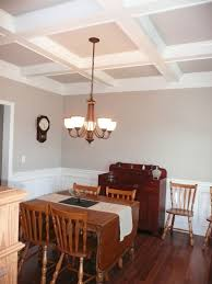 Dining Room Coffered Ceiling Decoration Home Interior