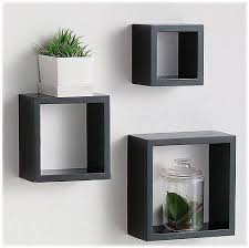 wall hanging box shelves 3 set of square black stained wooden decorative  shelf 25 best ideas