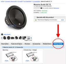 new wiring guide on car subwoofer product pages blog sonic massive audio dc 12