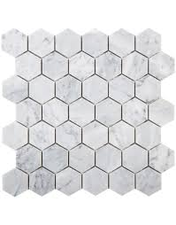 2 inch hexagon carrara marble tile diflart bianco carrara