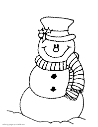 Small Picture Snowman Coloring Pages To Print In Coloring Pages Printable itgodme